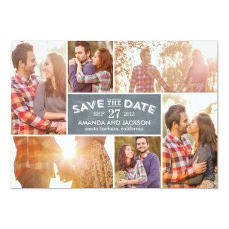 Photo Showcase Save The Date - Chalkboard Card