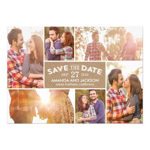 Photo Showcase Save The Date - Craft Custom Invite