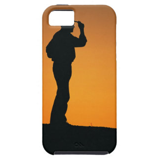 Photo, silhouette of a cowboy with his hand on iPhone SE/5/5s case