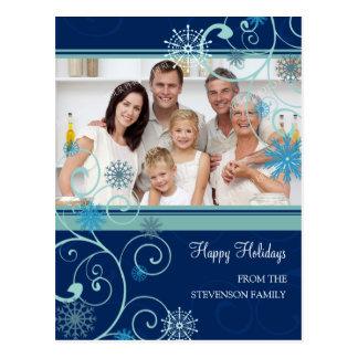 Photo Snow Happy Holidays Christmas Postcards
