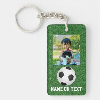 Photo Soccer Ball Name/Team Kids Keychain