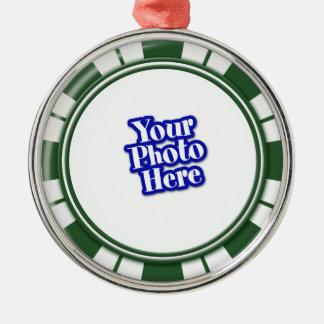 Photo Spearmint  Stripe Candy Metal Ornament