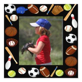 Photo Sports Birthday  Invitation