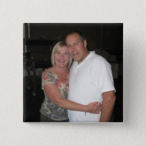 Photo Square Personalized Custom Buttons