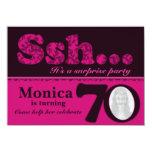 Photo ssh surprise pink 70th birthday invite