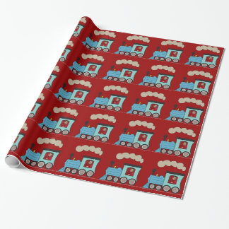 Photo Steam Train Choo Choo Wrapper Paper Wrapping Paper