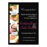 Photo Strip Save the Date! 5x7 Paper Invitation Card