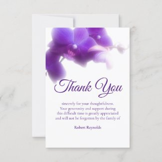 Photo Sympathy Funeral Floral Thank You