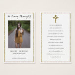 "Photo Sympathy Funeral Memorial Prayer Cards<br><div class=""desc"">This design printed Gold Glitter Cross and Glitter Frame Photo Sympathy Funeral Memorial Prayer Cards that can be customized with your text. Please click the ""Customize it"" button and use our design tool to modify this template. Check out the Graphic Art Design store for other products that match this design!...</div>"