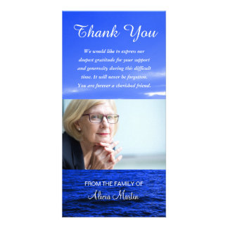 Photo Sympathy Memorial Thank You Ocean Sky Card