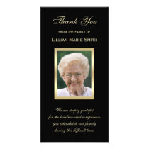 Photo Sympathy Memorial Thank You Photo Card