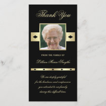 Photo Sympathy Memorial Thank You Photo Card Black