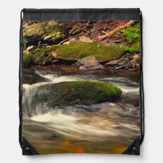 Photo Taken at Fires Creek in North Carolina Drawstring Backpacks