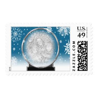 Photo Template 2014 Christmas Postage Stamps USPS
