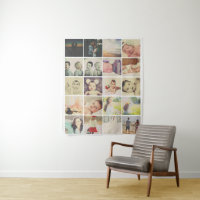 Photo Template 20 Collage Personalized Tapestry