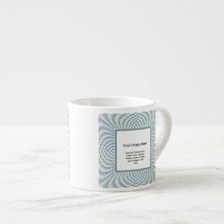 Photo Template - Aqua and White Distorted Checks Espresso Cup