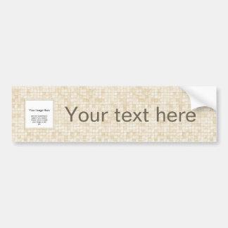 Photo Template - Duo-tone Cream Colored Tile Bumper Sticker