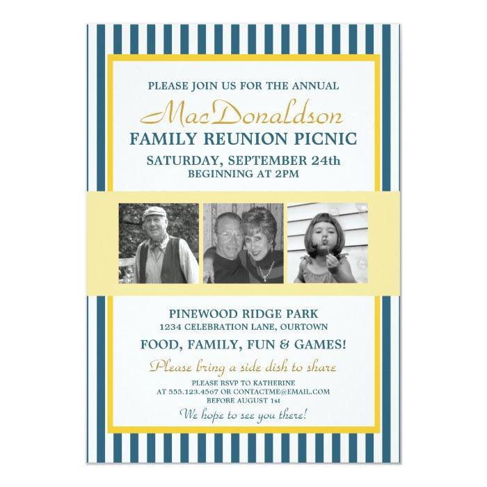 Photo Template Family Reunion Invitations | Zazzle