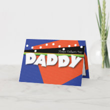 Photo Template Father's Day Card - Bright, colorful, fun, and playful! Insert a photo or a child's drawing on the inside of the card to personalize for the dad in your life. This card will certainly bring lots of smiles!