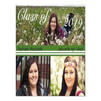 Photo Template Green White Graduation Announcement