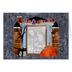 Photo Template Happy Halloween Card at Zazzle