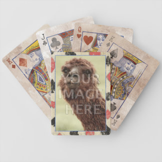 Photo Template Light Grunge Bicycle Playing Cards