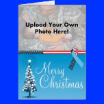 Photo Template Military Troops Ribbon Christmas Ca Greeting Card