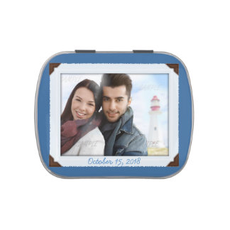 Photo Template Mint Tin Wedding or Shower Favor Jelly Belly Tins