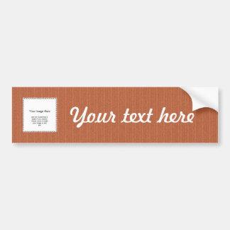 Photo Template - Orange Knit Stockinette Stitch Bumper Sticker