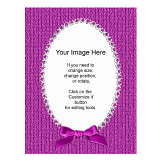 Photo Template - Orchid Knit Stockinette Stitch Postcard