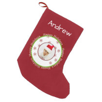 photo template Personalized Christmas Stockings
