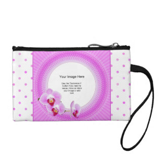 Photo Template - Radiant Orchid digital Floral Fra Coin Purse