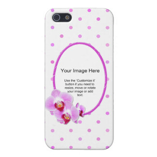 Photo Template - Radiant Orchid Floral Frame Case For iPhone SE/5/5s