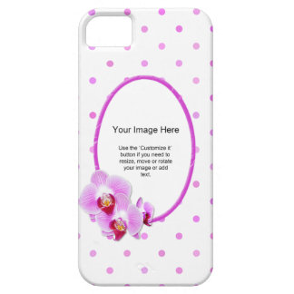 Photo Template - Radiant Orchid Floral Frame iPhone SE/5/5s Case