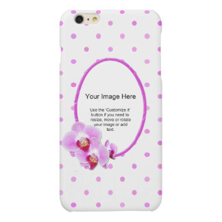 Photo Template - Radiant Orchid Floral Frame Matte iPhone 6 Plus Case