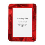Photo Template - Red Lame' Metallic Fabric Rectangle Magnet