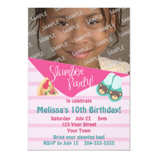 Photo Template Slumber Party 5x7 Paper Invitation Card