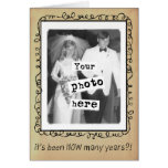 Photo Template Wedding Anniversary Congrats Greeting Cards