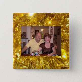 Photo Template with Gold Frame Button