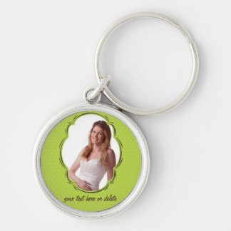 Photo template with polkadot keychain