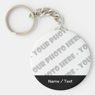 Photo & Text Basic Keychain - Create Your Own