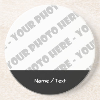 Photo & Text Beverage Coaster - Create Your Own