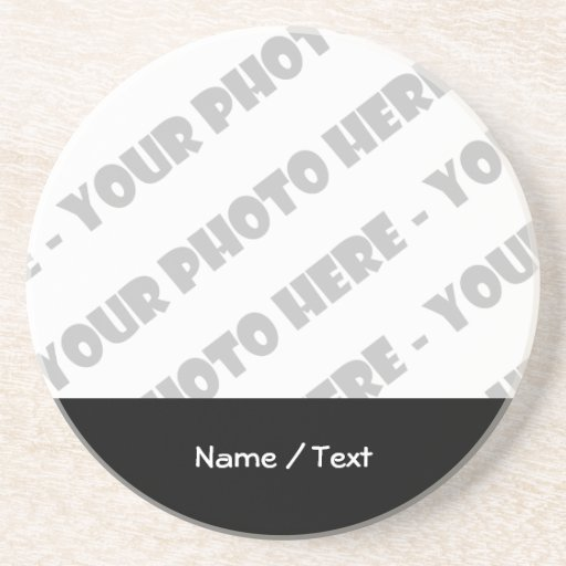 Photo Amp Text Beverage Coaster Create Your Own Zazzle