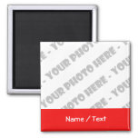 Photo & Text Square Magnet - Create Your Own