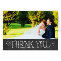 Photo Thank You Card   Chalkboard Charm
