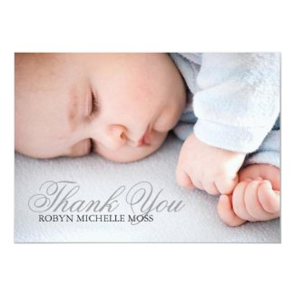 Photo Thank You Card | Name Photo