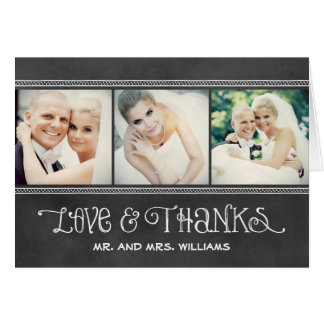Photo Thank You Note Cards | Chalkboard Charm