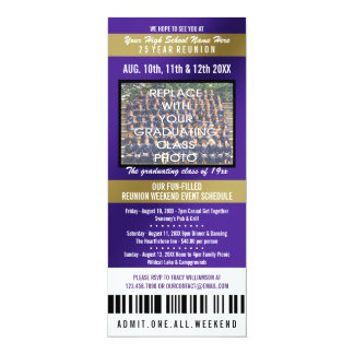 Photo Ticket Class Reunion Invitation