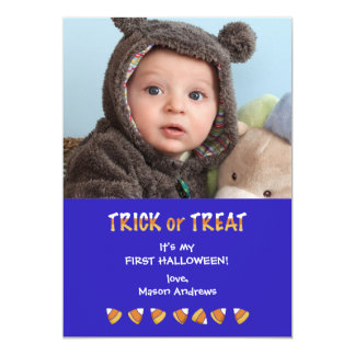 "Photo Treat Halloween Card 5"" X 7"" Invitation Card"