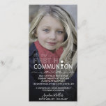 """Photo Typography  Communion - Photocard Invitation<br><div class=""""desc"""">Modern First Holy Communion Typography illustration text placed on your image. Easily to change the sample photo of the communicant with your own picture to personalize the product.</div>"""